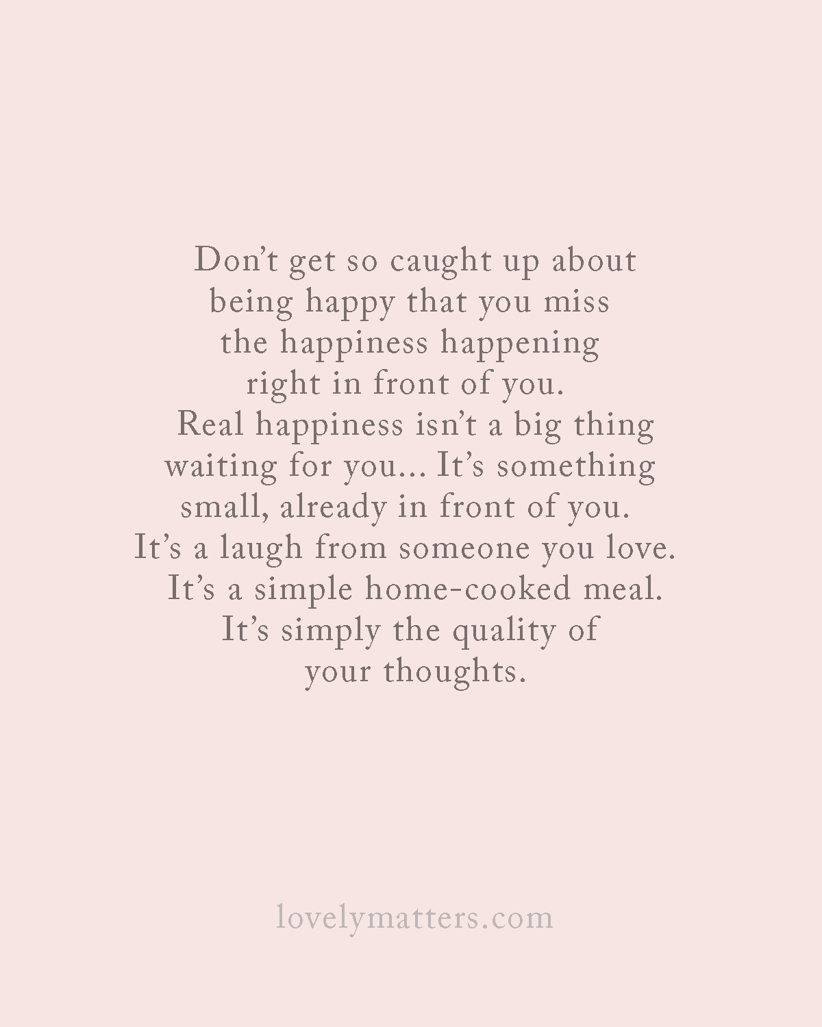 Beautiful happiness quote by Heather Walker - Lovely Matters Blog