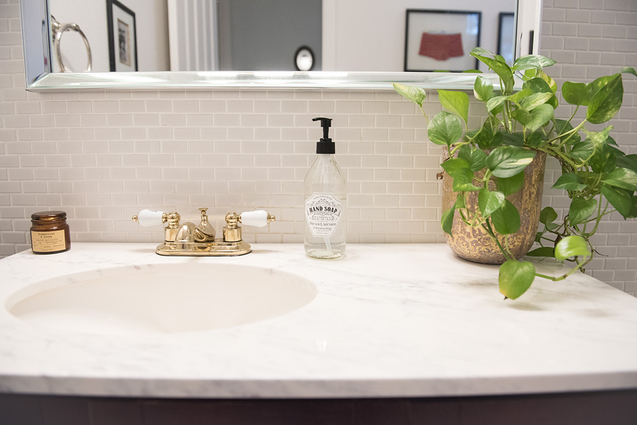 Pool Bathroom Decor - Decorating with memories - Lovely Matters Blog by Heather Walker