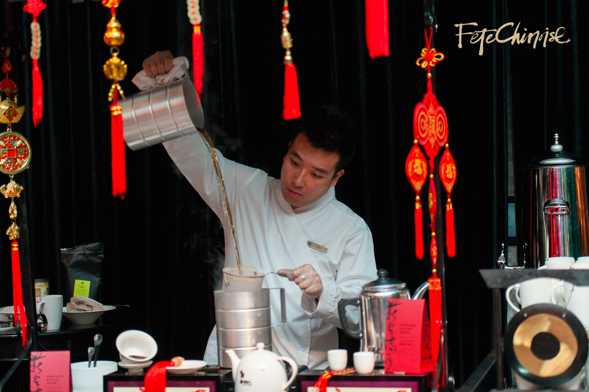 The Shangri-La Hotel, Toronto serves Hong Kong milk tea in the Marketplace at Fête  Chinoise. Photo by Krista Fox Photography.