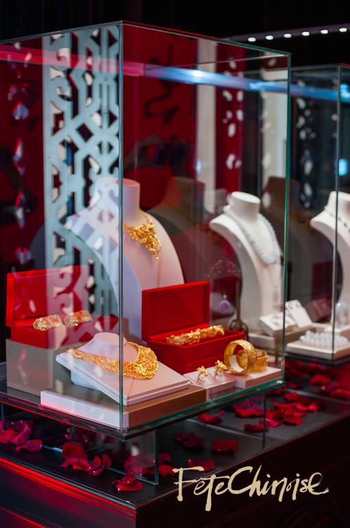 H&F Jewellery presents their incredible gold pieces and jade collection inside the Marketplace at Fête Chinoise  at the Shangri-La Hotel, Toronto  . Photo by Krista Fox Photography.