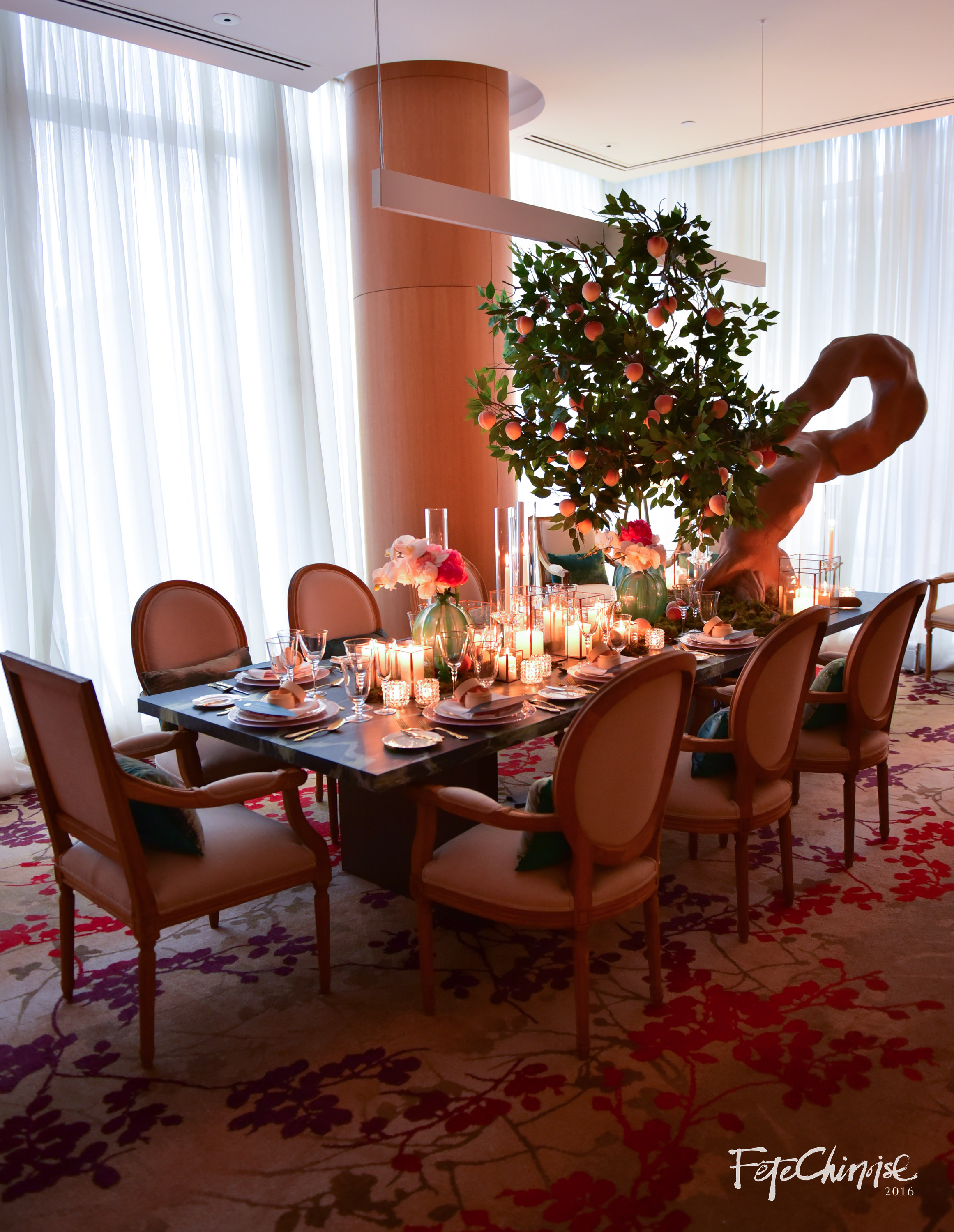 The Modern Birthday, designed by Marta Urbanowicz of Artam Design Inc. and Kim Miyama Events. This room created an intimate setting with the sense of longevity, symbolism, and cultural cues.