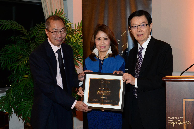 Dr. Tak Mak, Helen Ching-Kircher, Mr. Ming-Tat Cheung