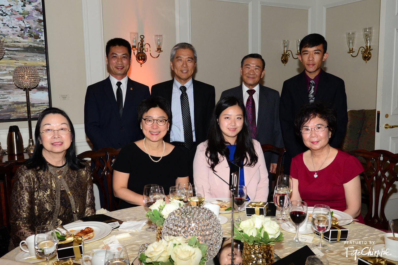 Zhuo Ming Zhao, Richard Liu, Harry Chow, Gordon Chow, Angela Chan, Dr. Fei-Fei Liu, Mrs. Zhao, Queenie Chau