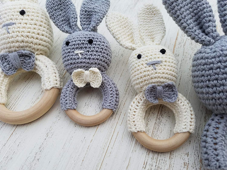 Super cute bunny baby teether