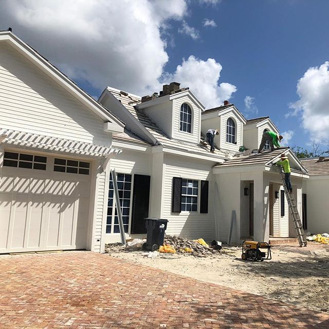 Colonial style home designed by our studio being built in South Miami! @brg.studio @brghomes