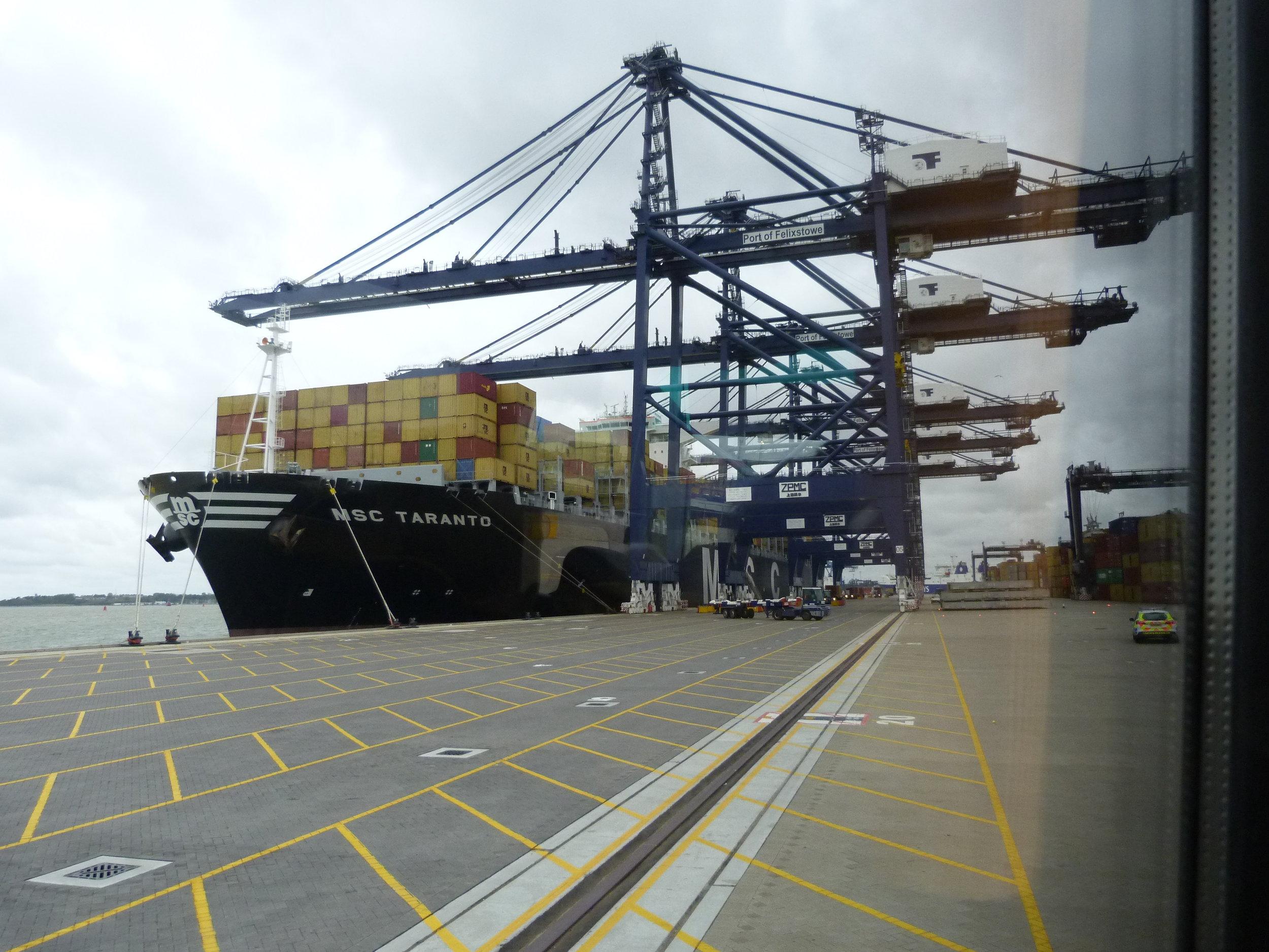 Port of Felixstowe Trinity Dock (newly opened Princess Anne Sept 2011) P1040018.JPG
