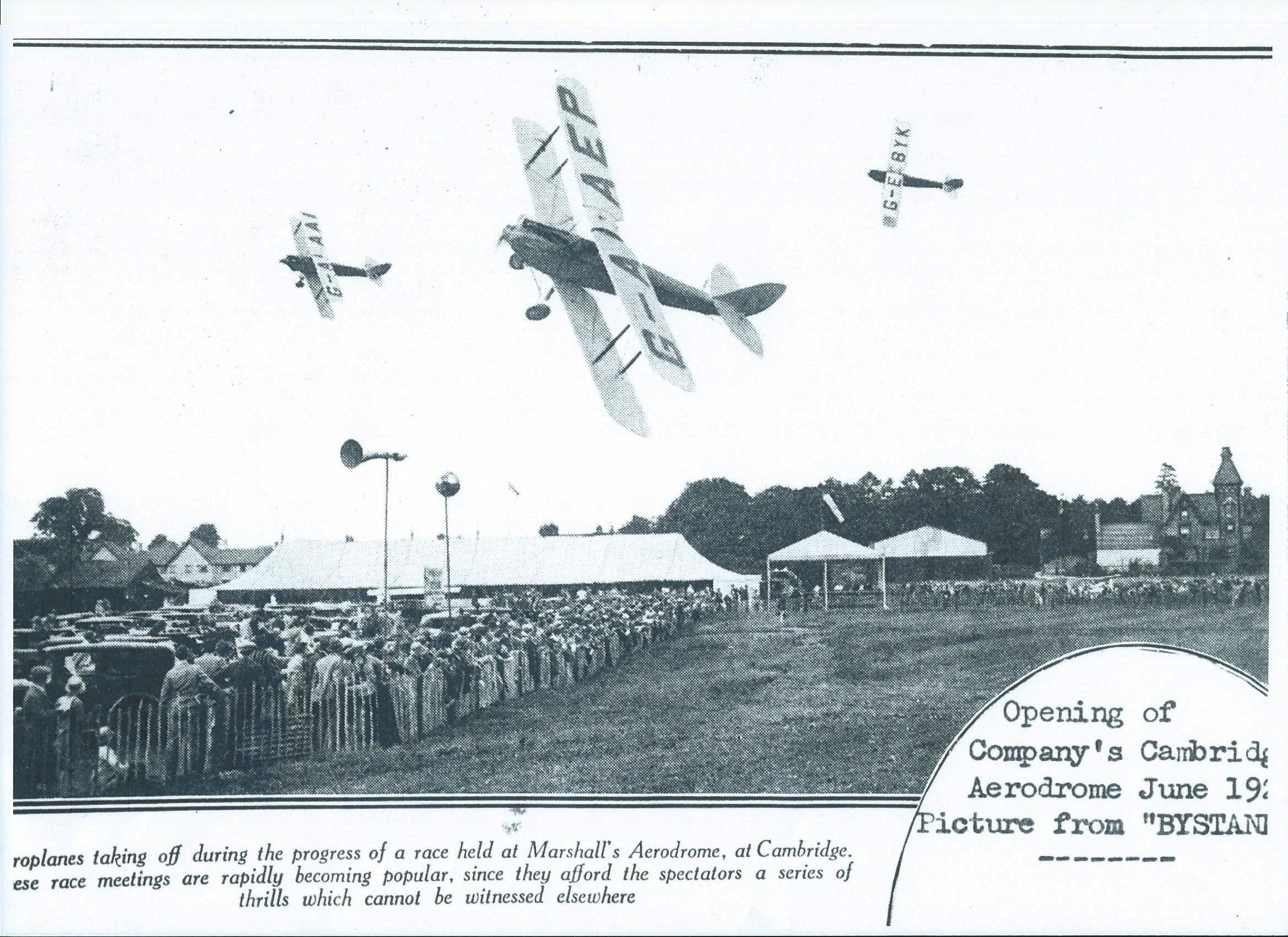 Flight over Marshall's Aerodrome, June 1929