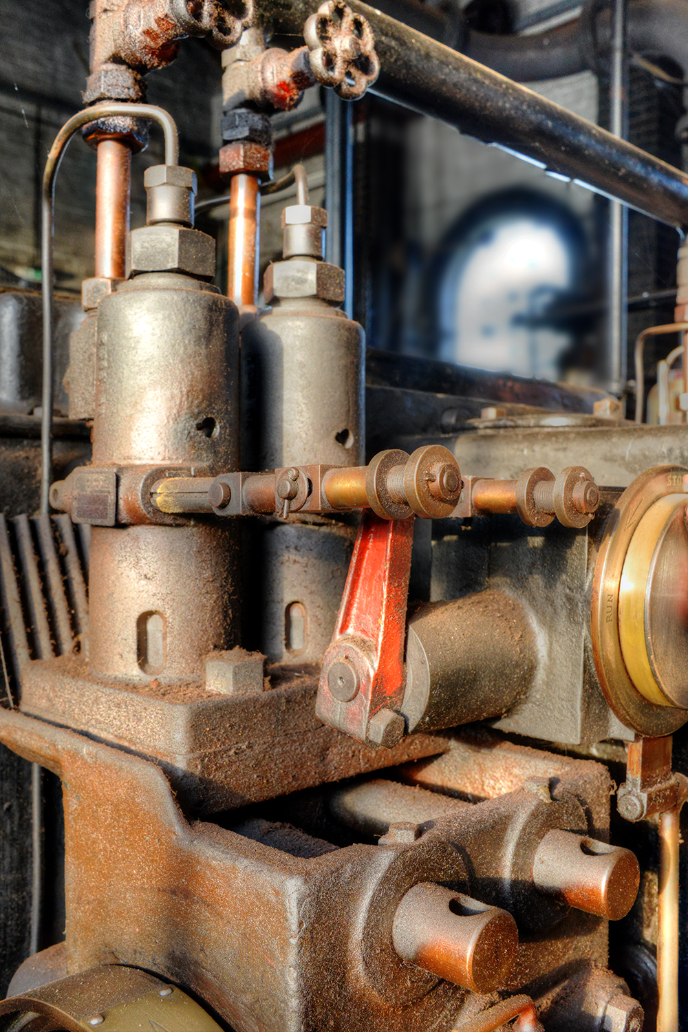 Valve Gear, Mepal Pumping Station by Roger Newark