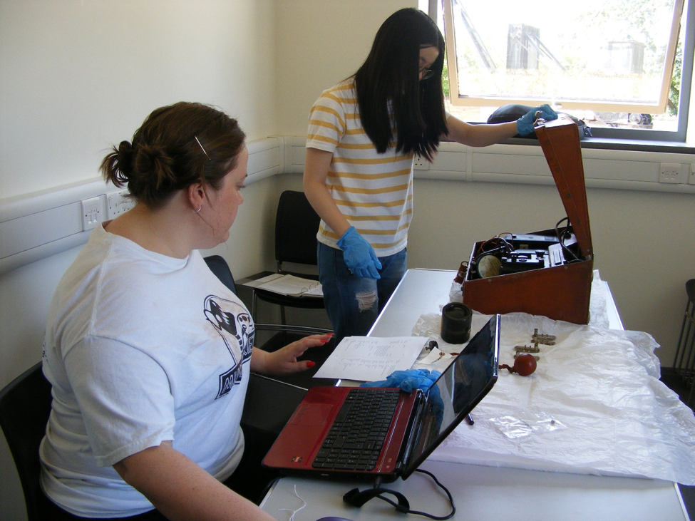 Katie and Xinrui working on our object collection