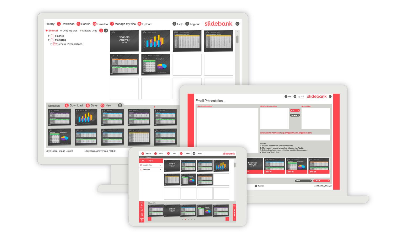 Slidebank works across desktop, laptop and iPad - PC and Mac.