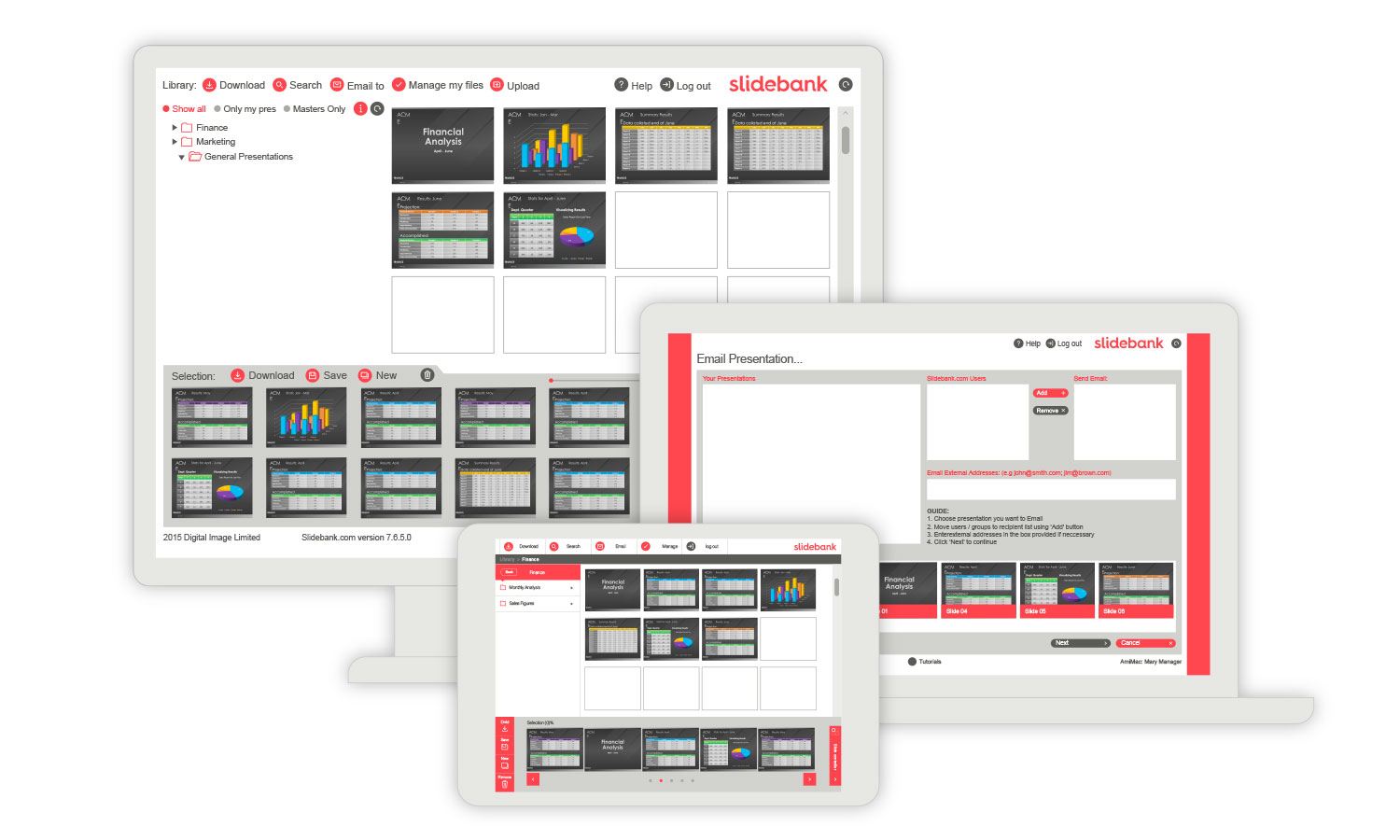 Manage your PowerPoint database online