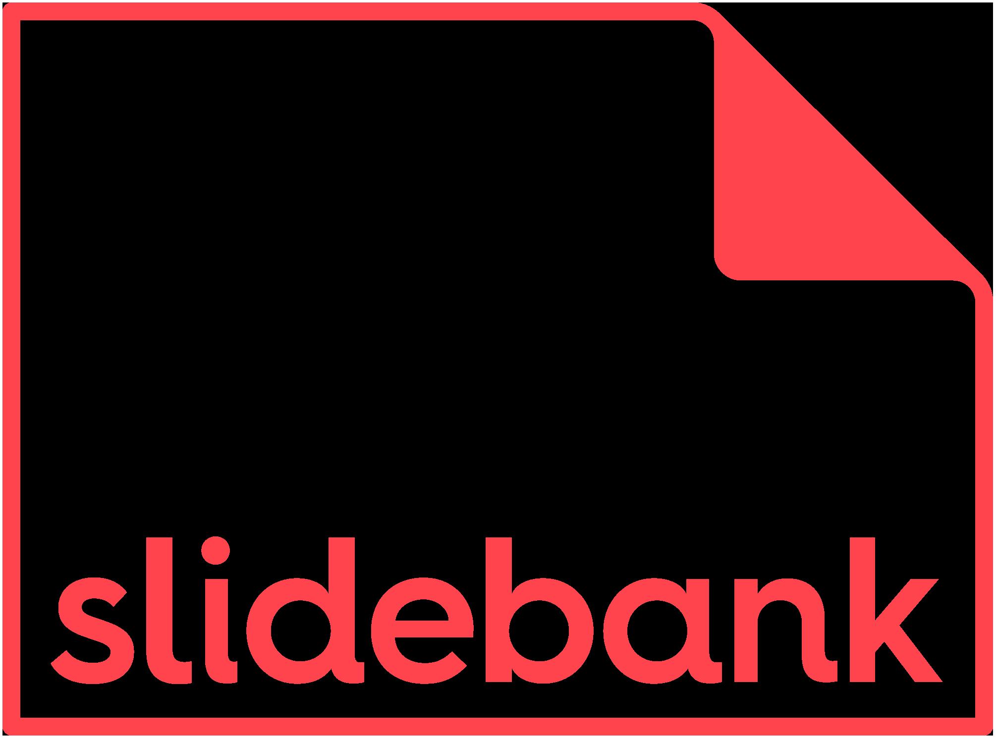 Slidebank stroked logo