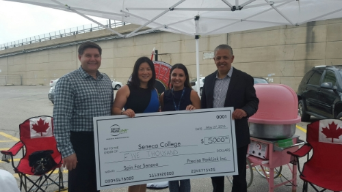 Precise ParkLink raised $5,000.00 for Seneca College