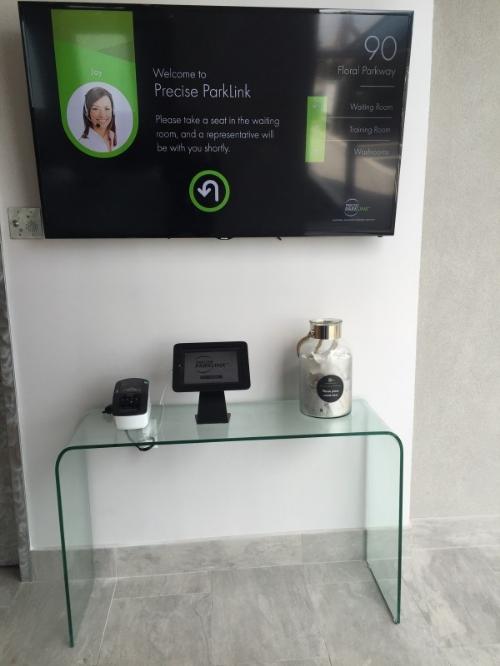 Precise ParkLink's iPad Receptionist