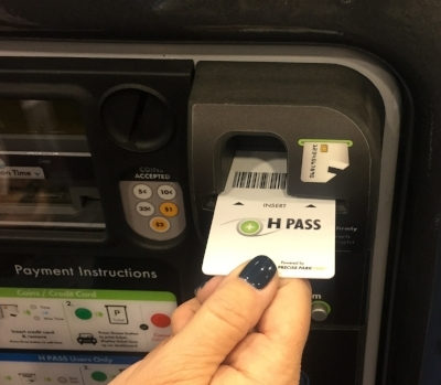 The H PASS Solution Being Used On A Pay and Display Parking Machine