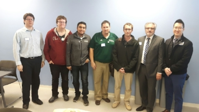 Precise ParkLink's Research & Development Director with Durham College Professor and Students