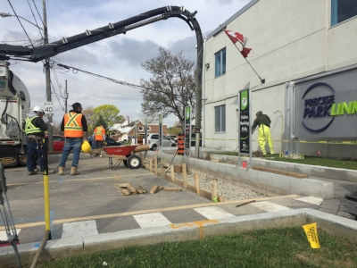 Precise ParkLink Electric Vehicle Charging Station Installation