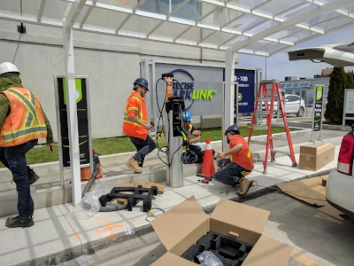 Precise ParkLink Installs Electric Vehicle Charging Station