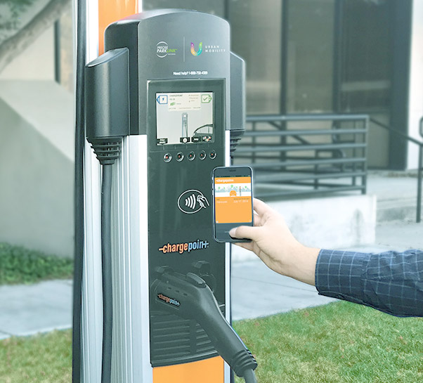 The Popular Choice - The CT4000 is a popular choice for commercial properties due to it's charging speed, dual ports, overall design and cost.Flexible charging prices are offered with this model: time of day pricing, fees per driver type, sessions, kWh. The EV charger is also connected to an app enabling drivers to locate and sign up for a wait list when all chargers are in use. The large screen LCD display, is also an enticing feature of this model.