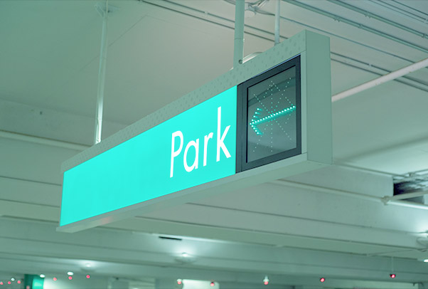 Signage & Wayfinding - Our in-house sign shop offers parking signs of all types, and in all sizes and colours. We produce standard or custom signs flexible to your needs. We'll take care of the design, production and installation for all your signage needs.