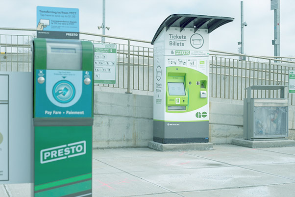 """Transit Ticket & Pass Vending - Our transit ticket vending and pass pay stations allow commuters to purchase """"single ride"""" tickets, and purchase or load funds onto their city transit pass using cash, debit or credit card. They can be programmed to accept multi-fare types."""