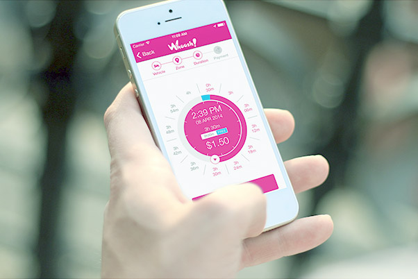 Payment Wheel - The Flowbird app is known for it's easy to use payment wheel. Minimizing manual input and user error, the payment wheel requires a simple touch and drag until your parking time required is reached.