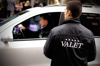 Valet Services - Our valet team will ensure your customers experience a positive first and last impression. Providing exceptional customer service our valet team will greet arriving and departing customers with courteous, secure and convenient valet.