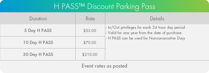 Baycrest Health Sciences H PASS Discounted Parking Pass