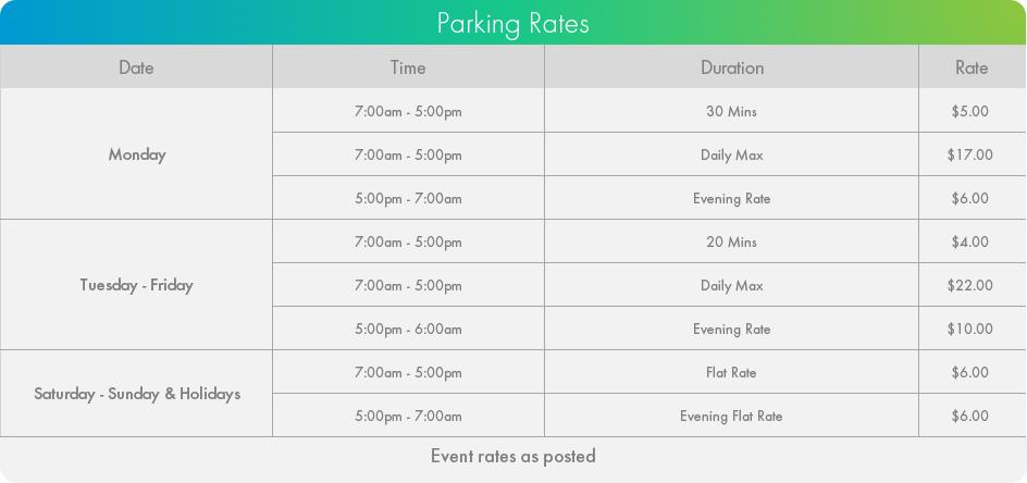 Madison Centre Parking Rates