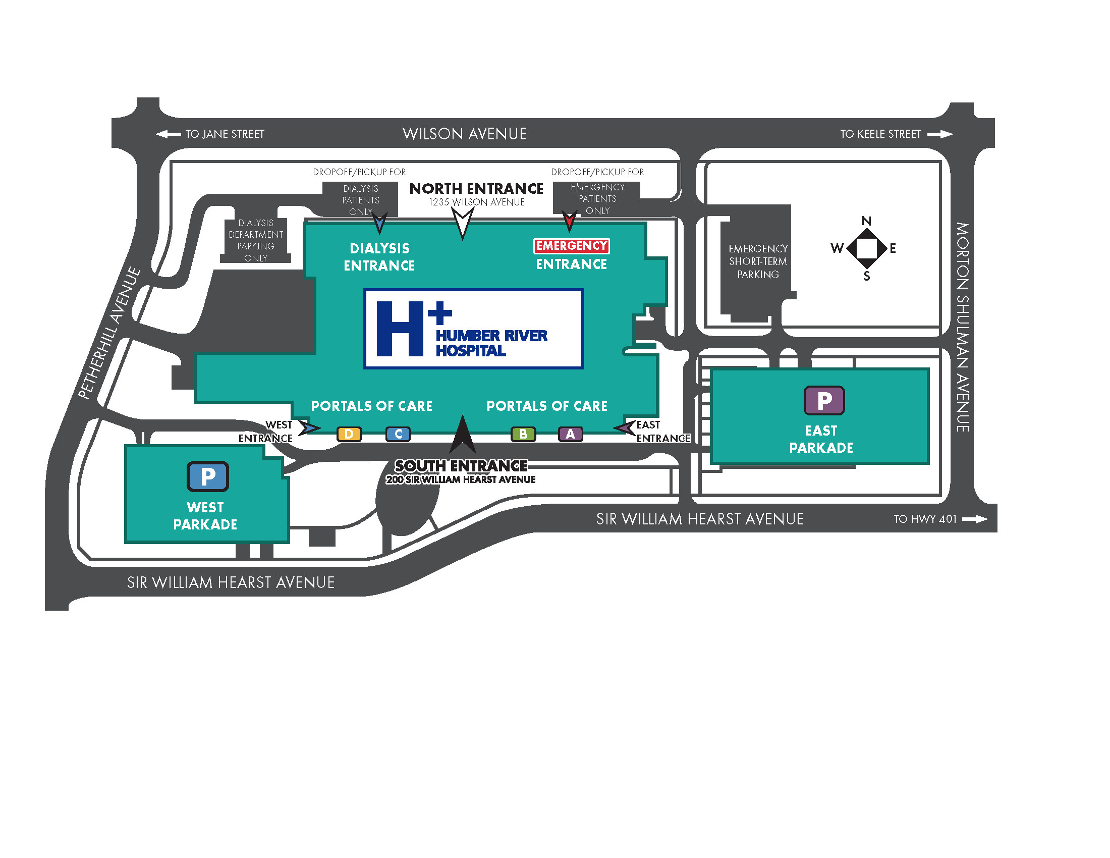 Humber River Hospital Map.png