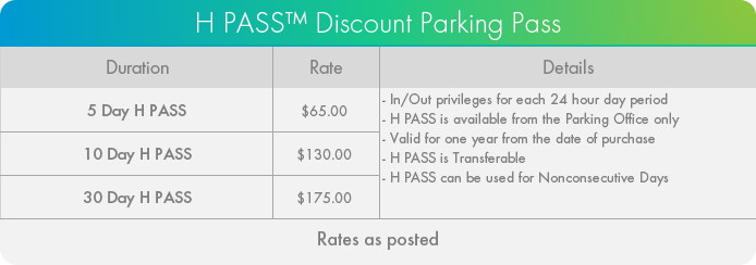 Humber River Hospital H PASS Parking Pass