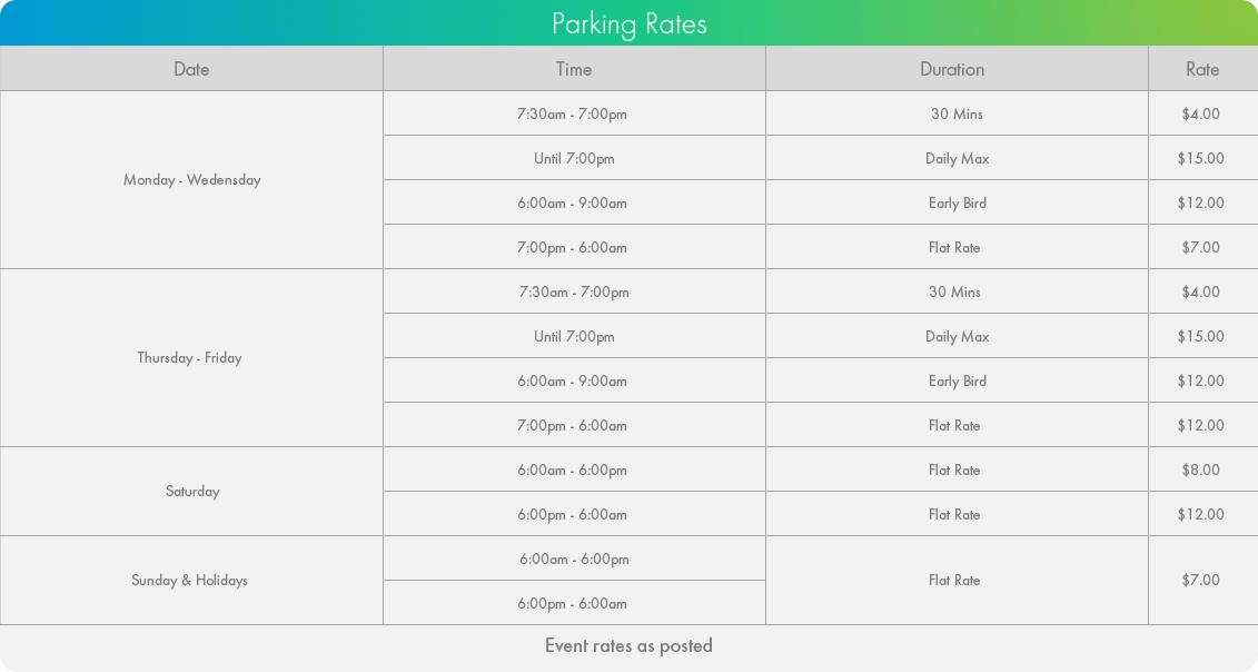 5 Widmer Street Parking Rates