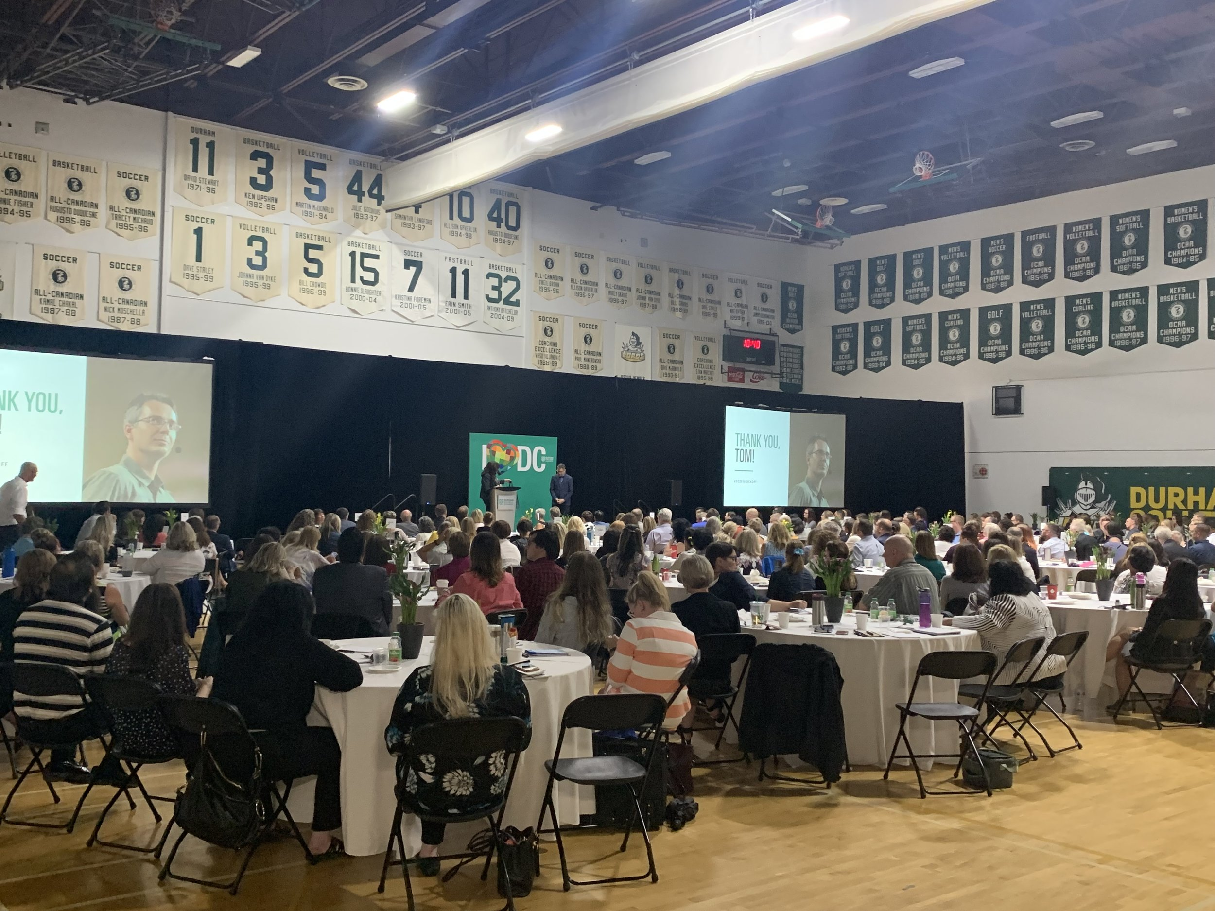 More than 400 faculty members, students, and industry partners attended Durham College's 2019 Academic Kickoff.