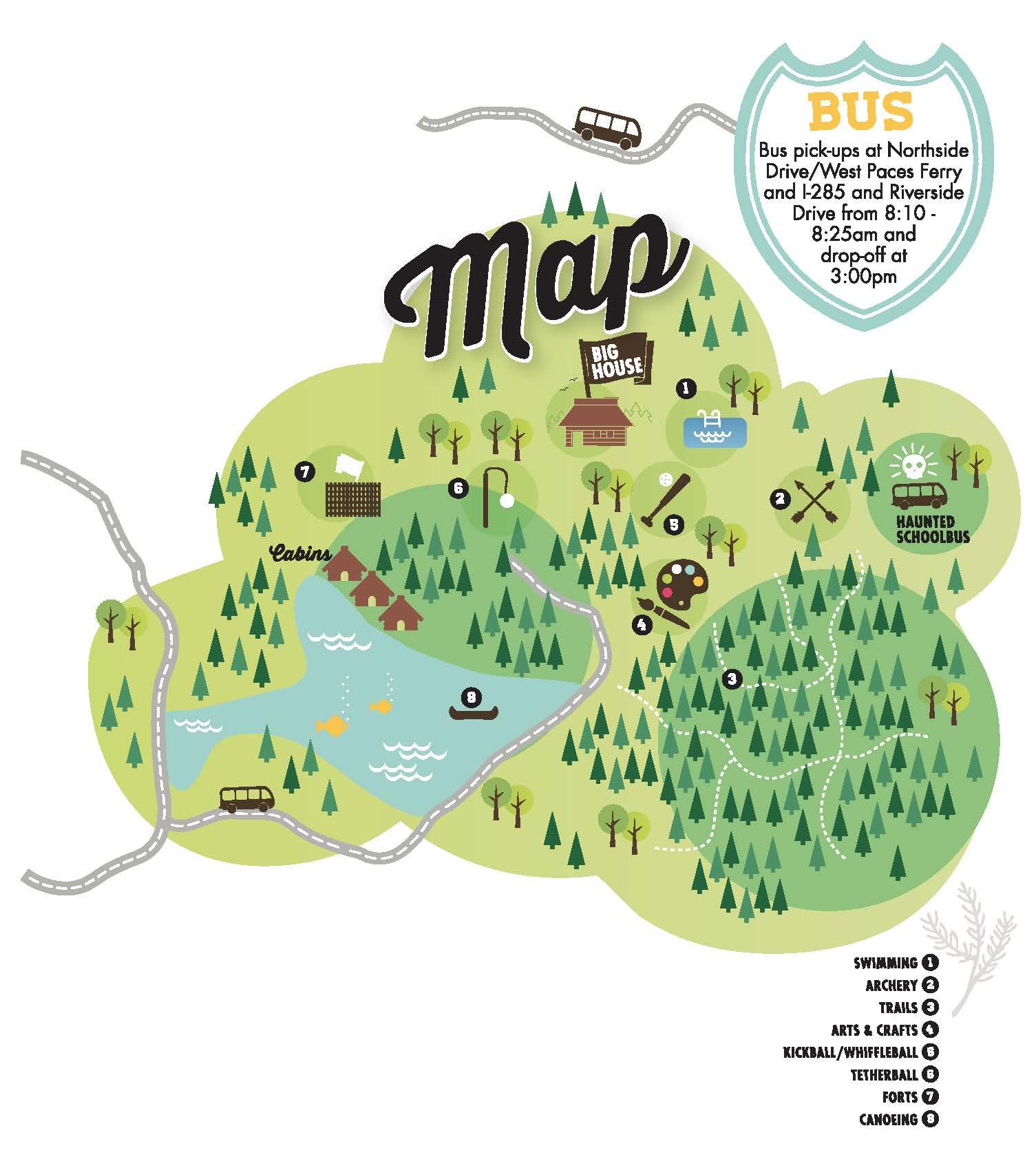 Camp 'treasure' map