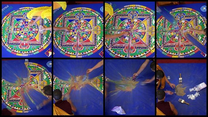 Tibetan Monk Sand Mandala Creation and Destruction Process