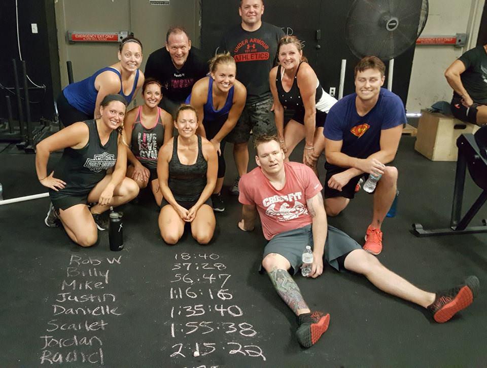 Danielle with Team Rock N'Row at the July 2016 Row Raiser Event