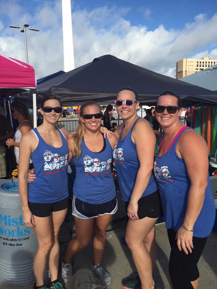 Ana with her team at the Beach Brawl in September of 2016