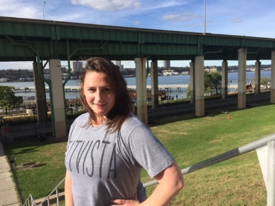 Alexis living the #FitVista lifestyle and running stair sprints in her FitVista tee! REPRESENT! <3