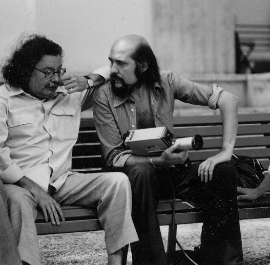 Pierre Restany et Fred Forest, Biennale de Venise (1976) / Courtoisie Fred Forest