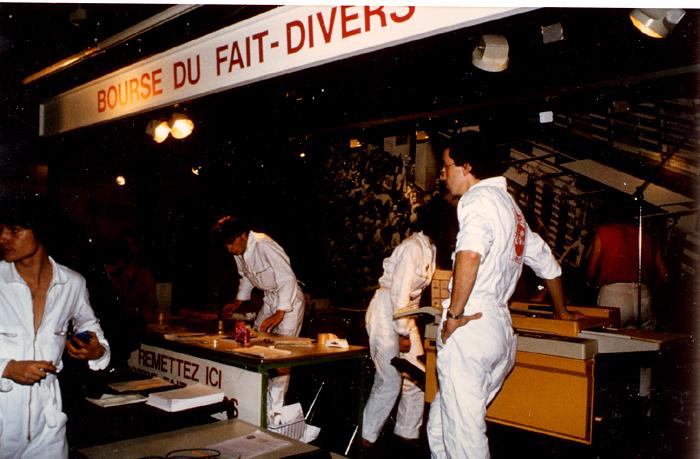 Fred Forest,  Bourse de l'imaginaire , Centre Pompidou (1982) / Courtoisie Fred Forest
