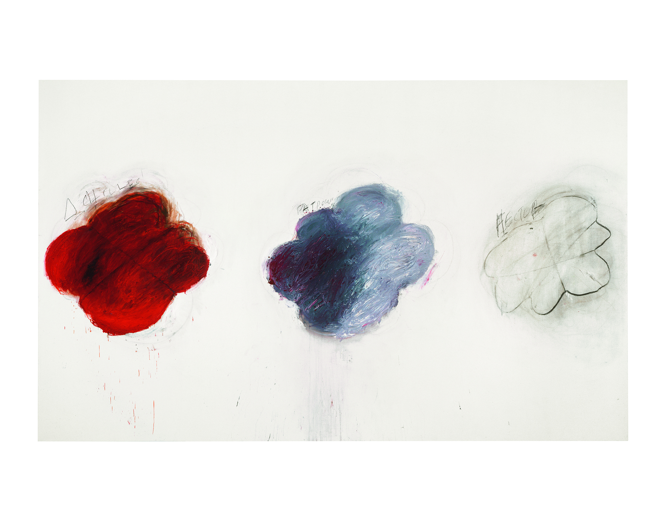 Fifty Days at Iliam Shades of Achilles, Patroclus and Hector (1978) Cy Twombly   © Courtesy of Philadelphia Museum of Art, Philadelphie