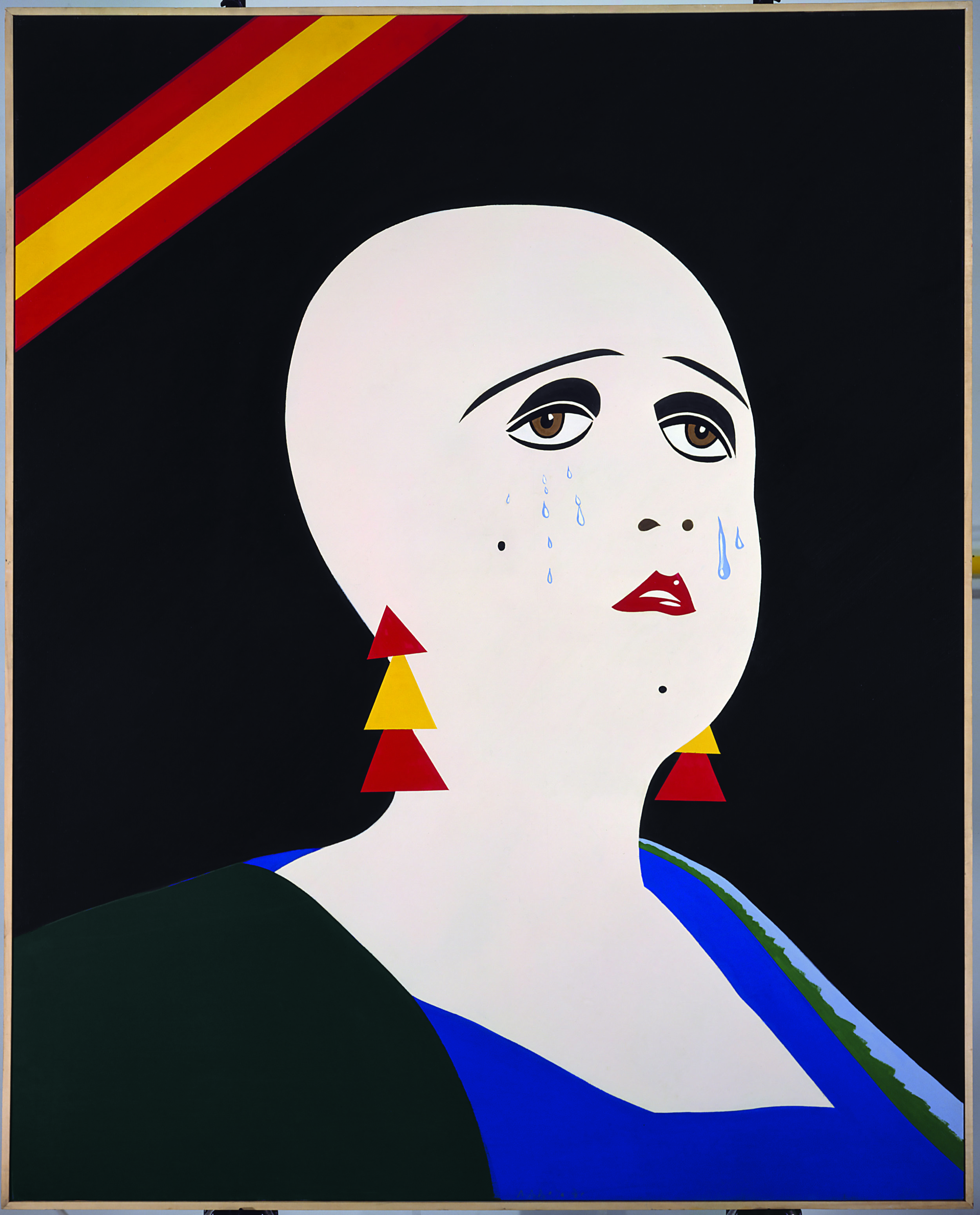La mujer del minero Pérez Martinez llamada Tina es rapada por la policia (1970)   Eduardo Arroyo   © Adagp Paris 2017. Photo DR