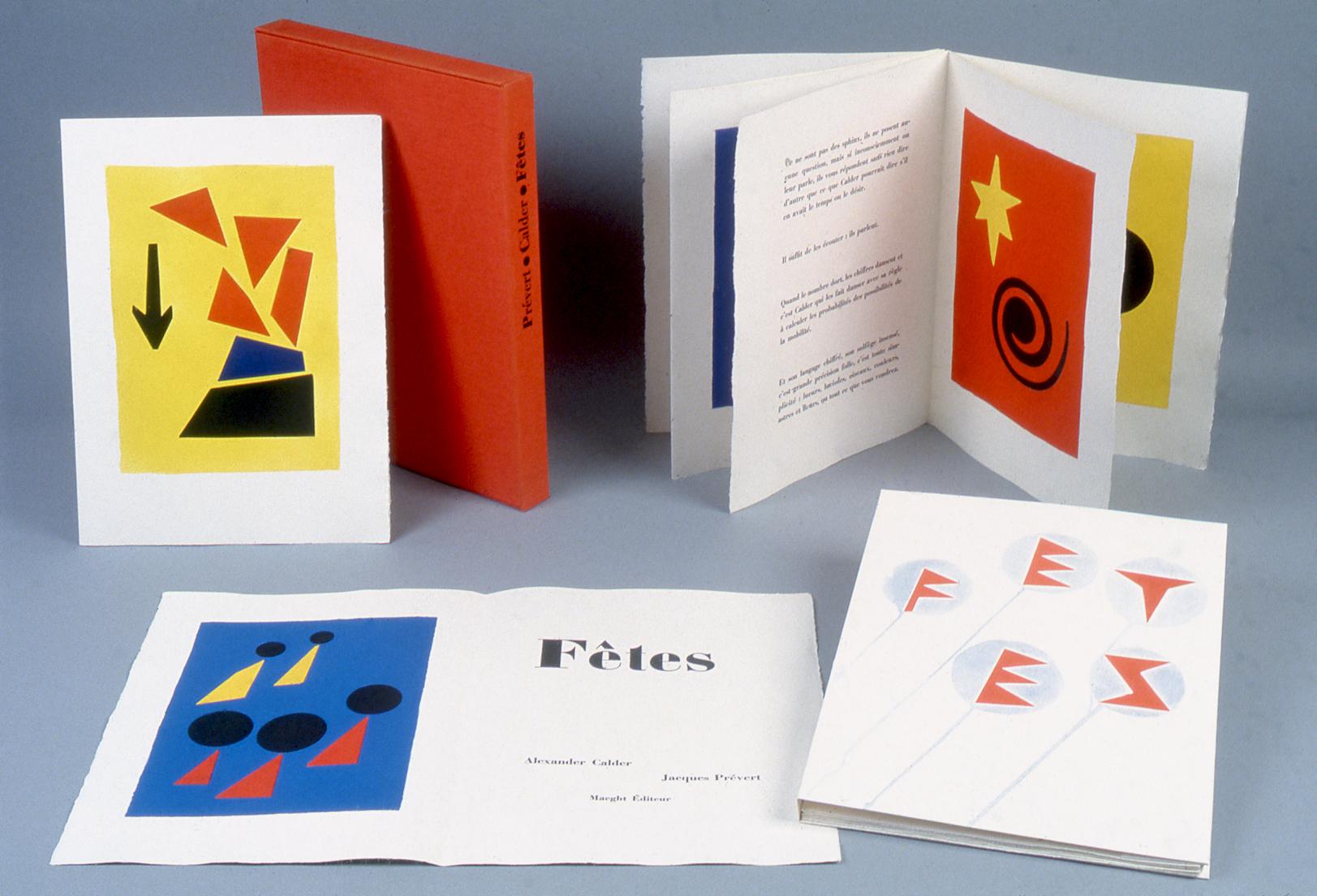 Fêtes  (1970)  Texte de Jacques Prévert, illustré par Alexander Calder, édité par Maeght Editeur  © Maeght Editeur, Paris