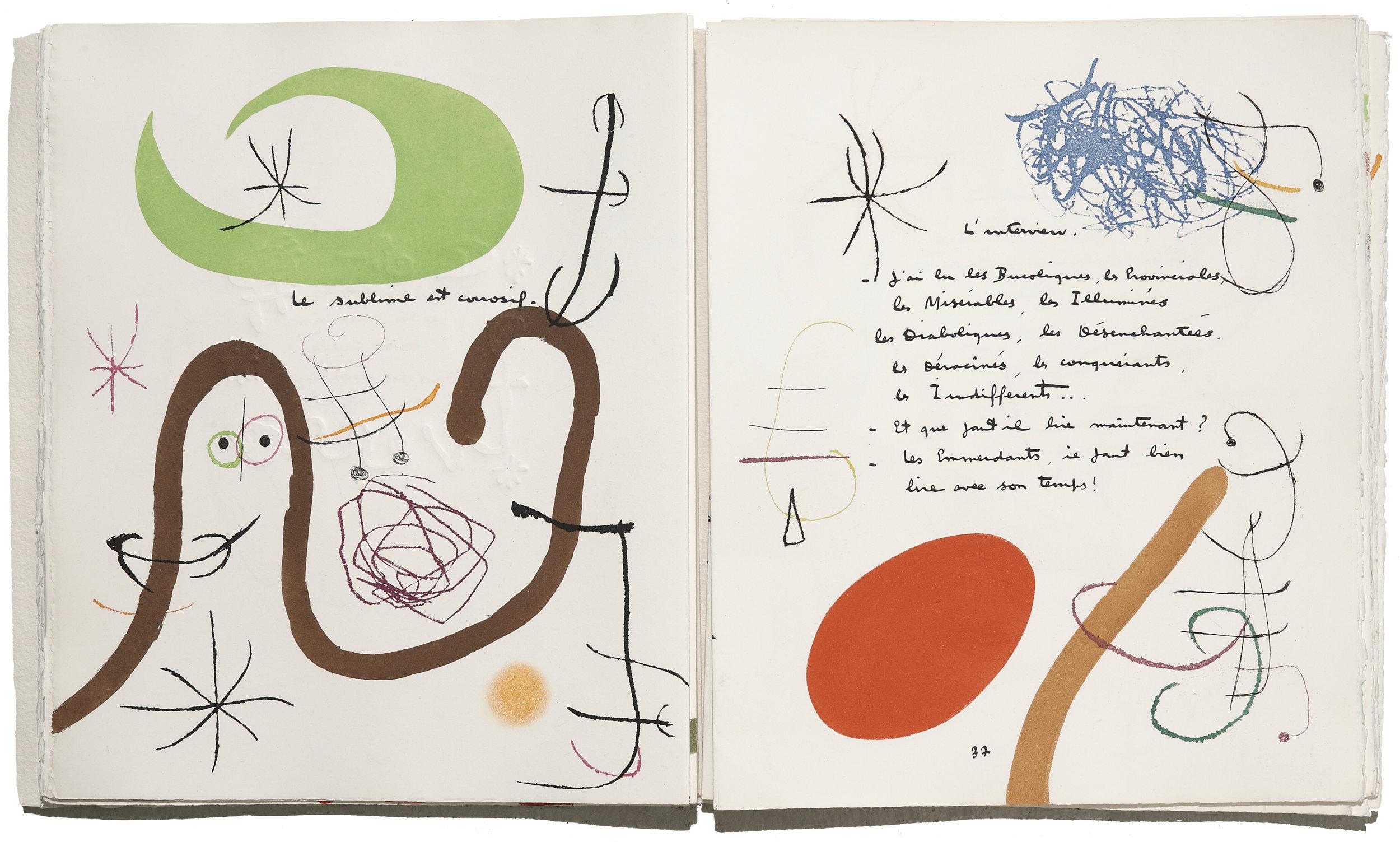 Adonides  (1975)  Texte de Jacques Prévert, illustré par Joan Miró, édité par Maeght Editeur  © Maeght Editeur, Paris