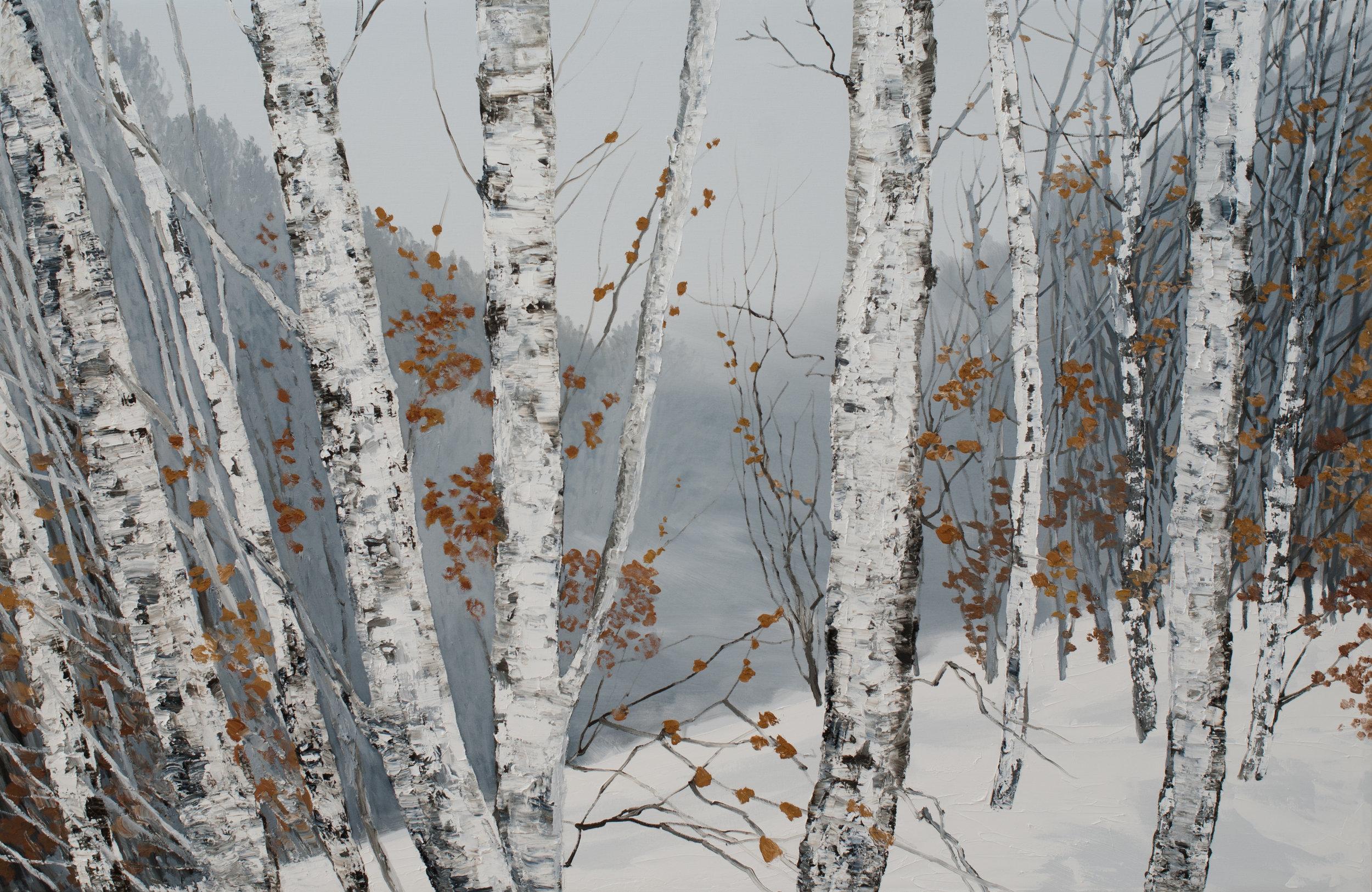 Winterpath (2015)  Hilary Dymond  Courtoisie galerie Claire Gastaud