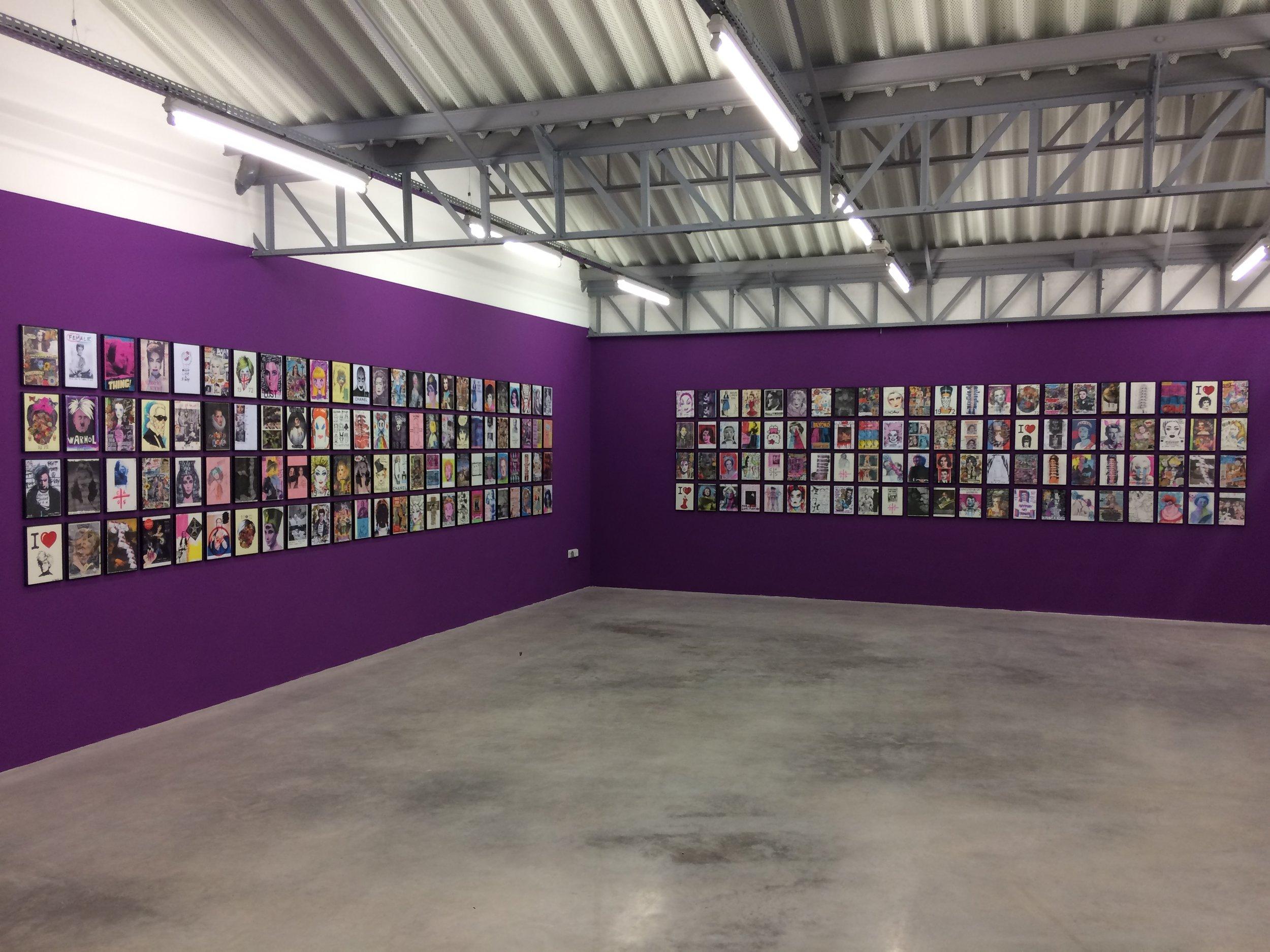Vue d'exposition,« Legendary Bitches », Roberta Marrero  Transpalette, Bourges  Photo : CT
