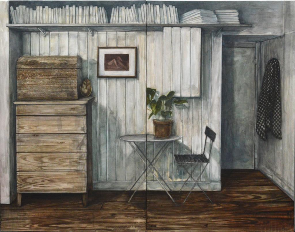 Espece d'espace , 2018  Nathanaëlle Herbelin  160 x 208 cm, oil on canvas