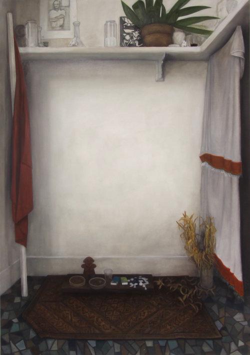Temple , 2016  Nathanaëlle Herbelin  180 x 135 cm, huile sur toile.