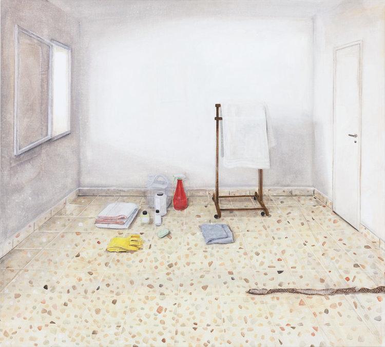 Arad , 2018  Nathanaëlle Herbelin  140 x 160 cm, huile sur toile.