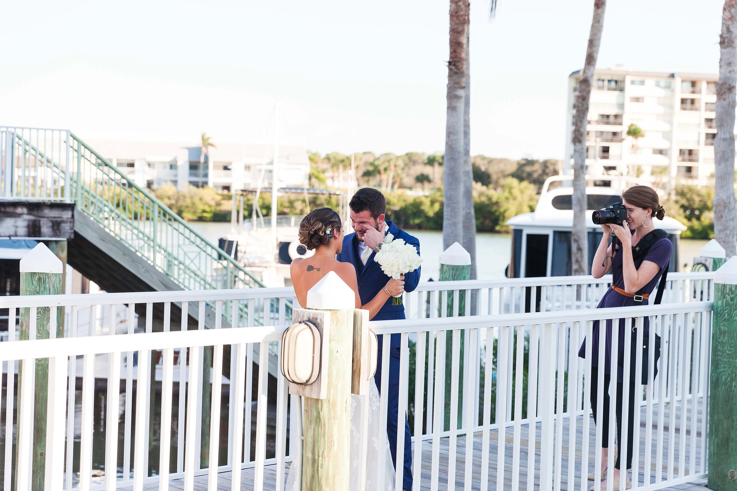 The sweetest first look from Jordan and Drew's day!